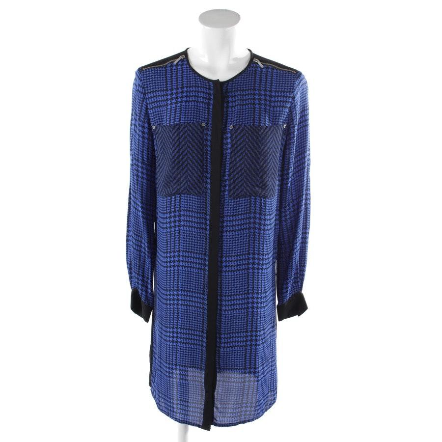 Blusenkleid von Michael Kors in Schwarz und Blau Gr. M