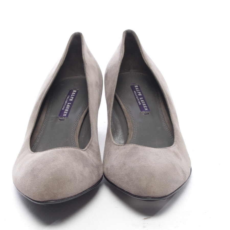 pumps from Ralph Lauren Purple Label in gray size D 40 US 8,5