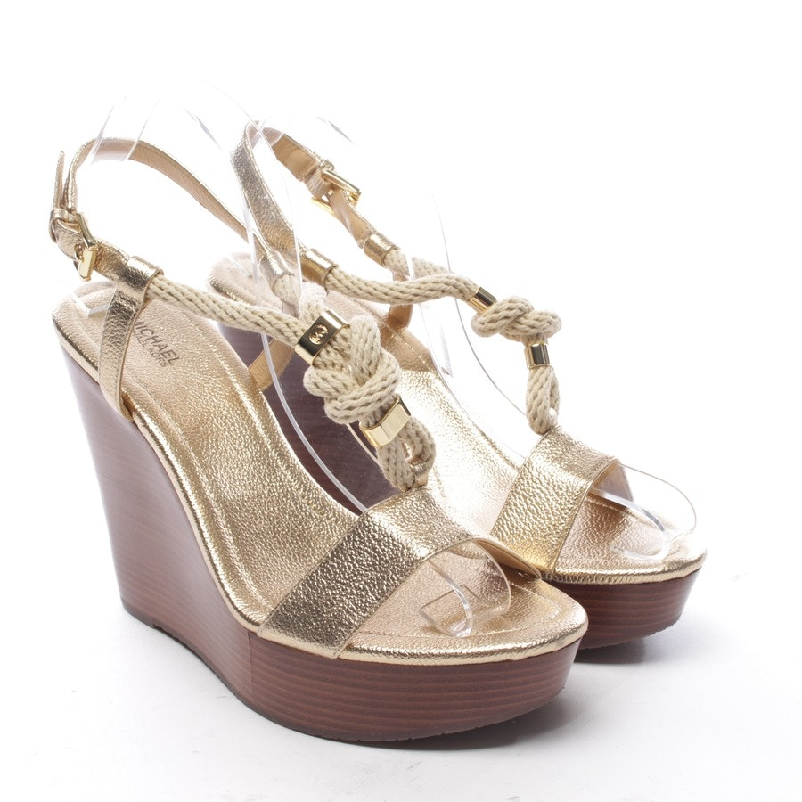 heeled sandals from Michael Kors in gold size D 41 - new