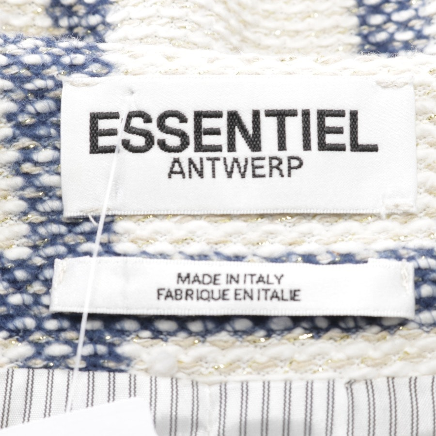 between-seasons jackets from Essentiel Antwerp in white and blue size 36 FR 38
