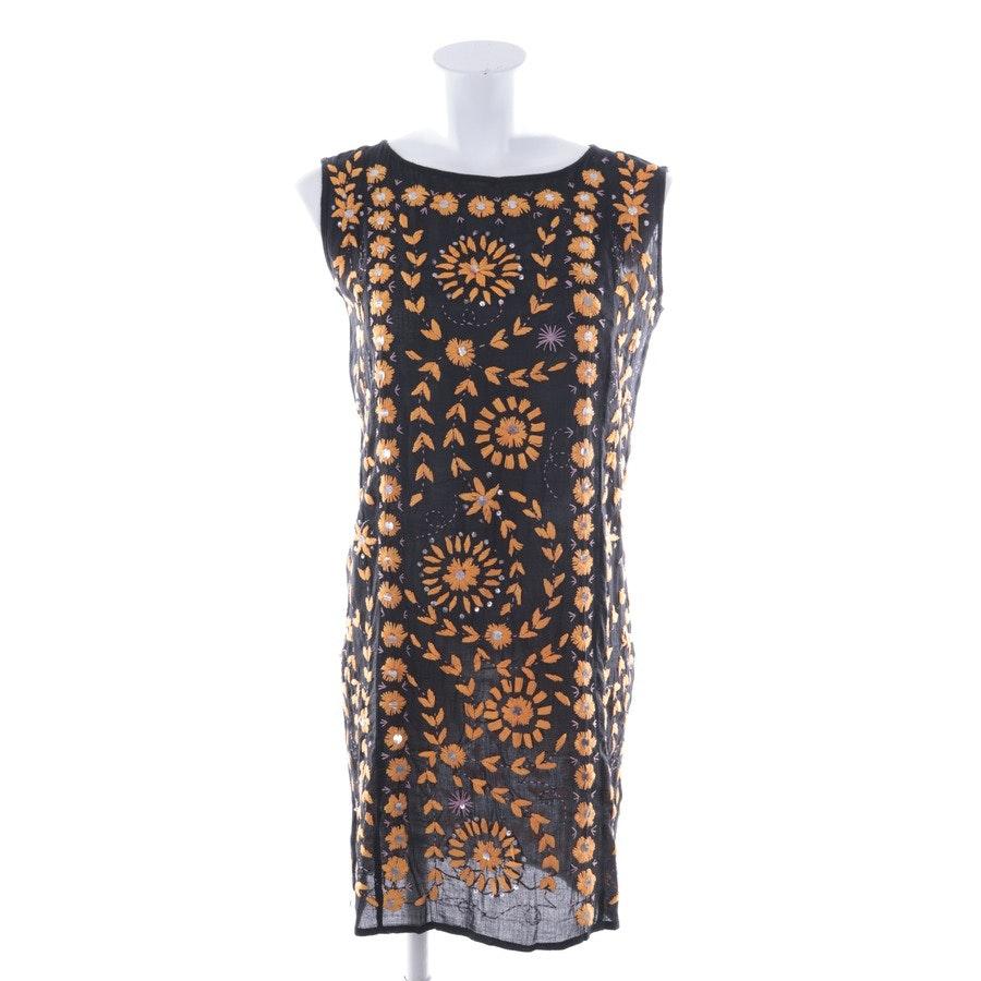 Kleid von Antik Batik in Schwarz und Orange Gr. 36 FR 38