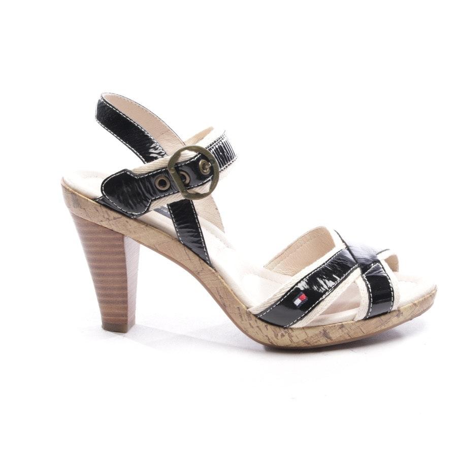 Sandaletten von Tommy Hilfiger in Creme und Schwarz Gr. D 39