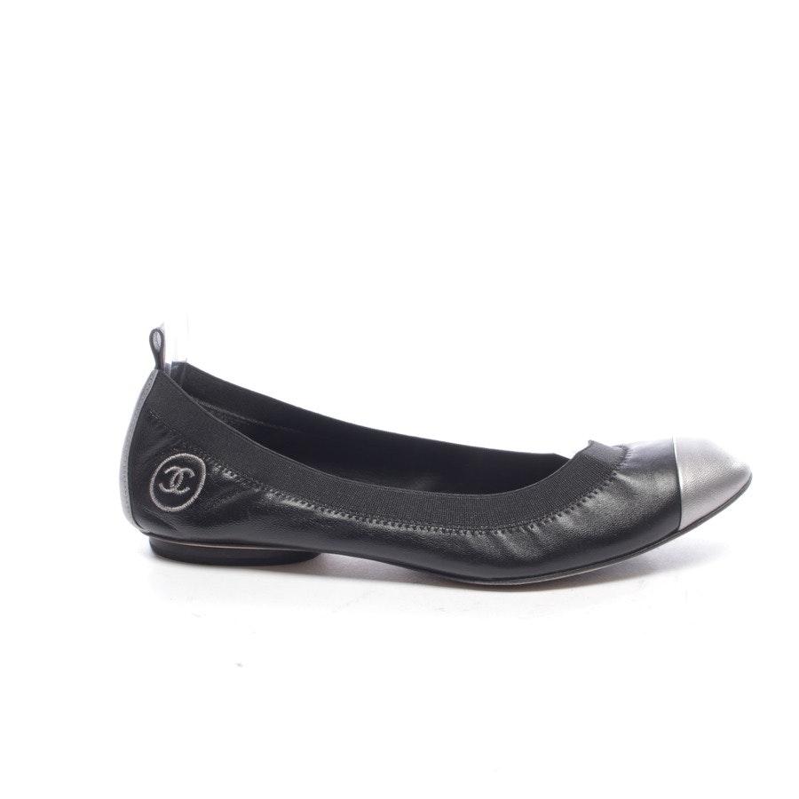 Ballerinas von Chanel in Schwarz und Silber Gr. EUR 38