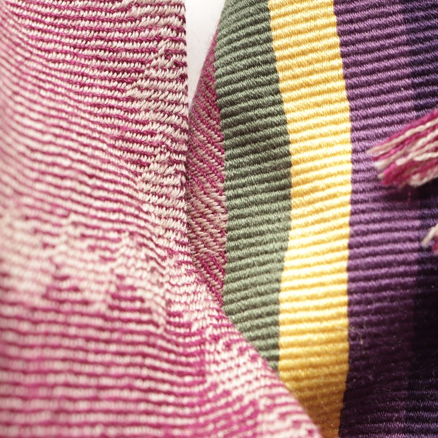 scarf from Etro in purple and beige