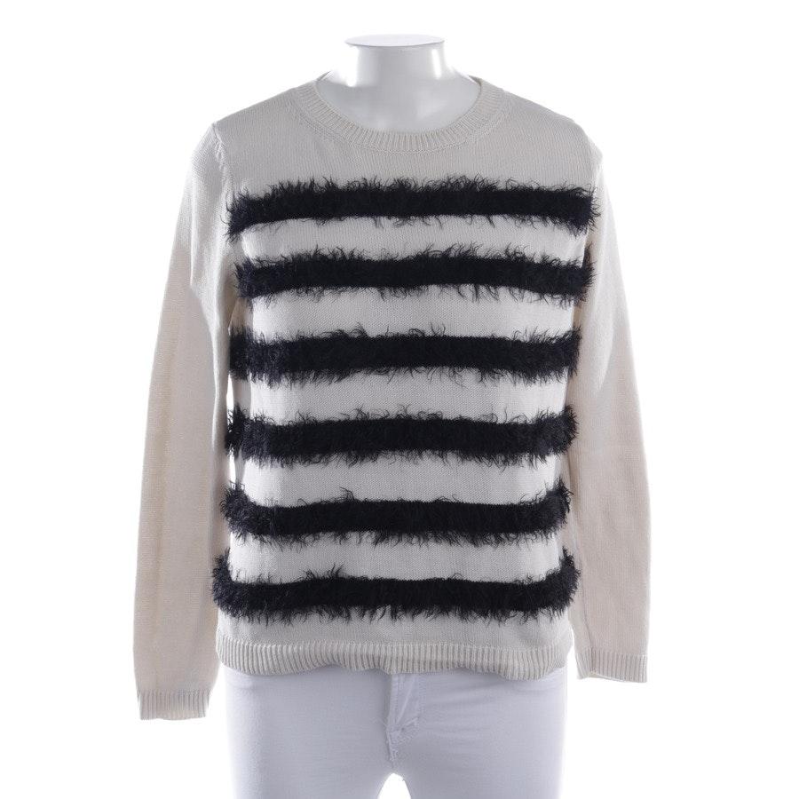 Pullover von Max Mara in Creme und Schwarz Gr. XS