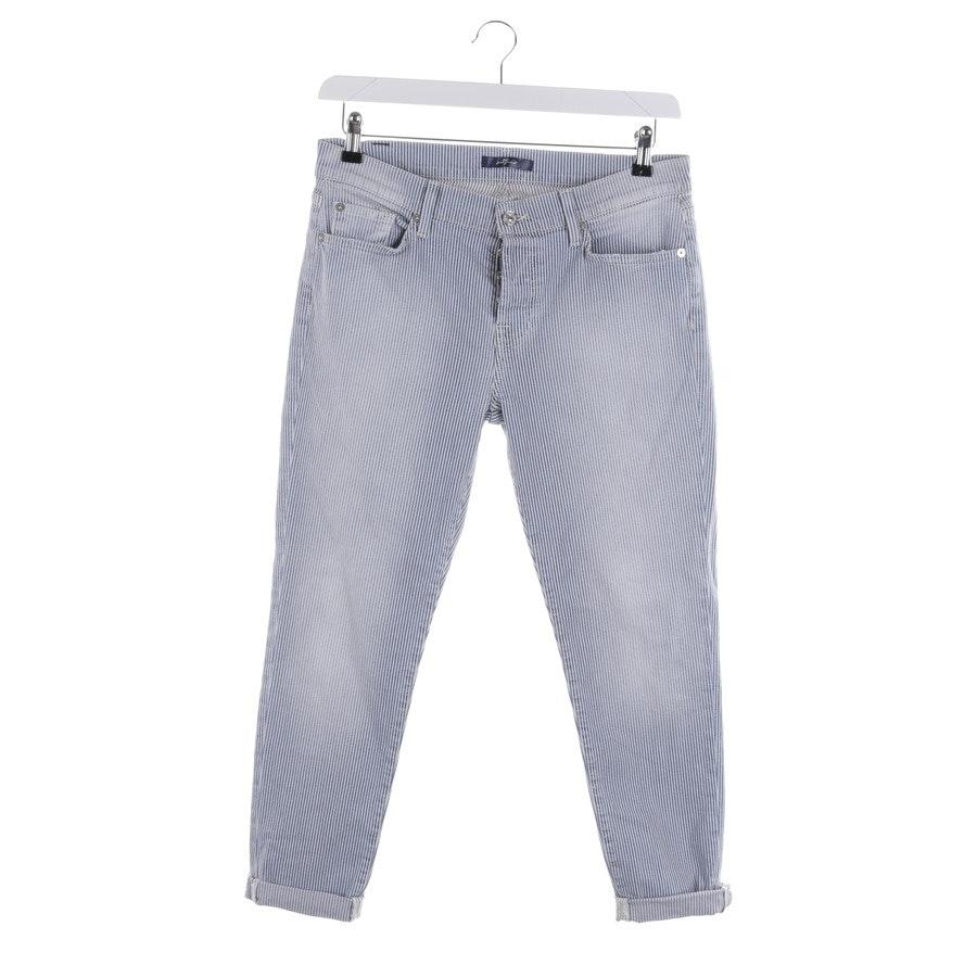 Jeans von 7 for all mankind in Blau und Weiß Gr. W28