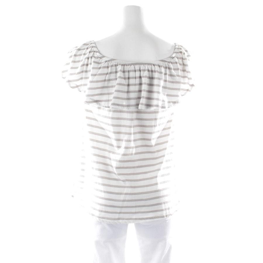 Shirt von Oui in Weiß und Grau Gr. 34 - Neu