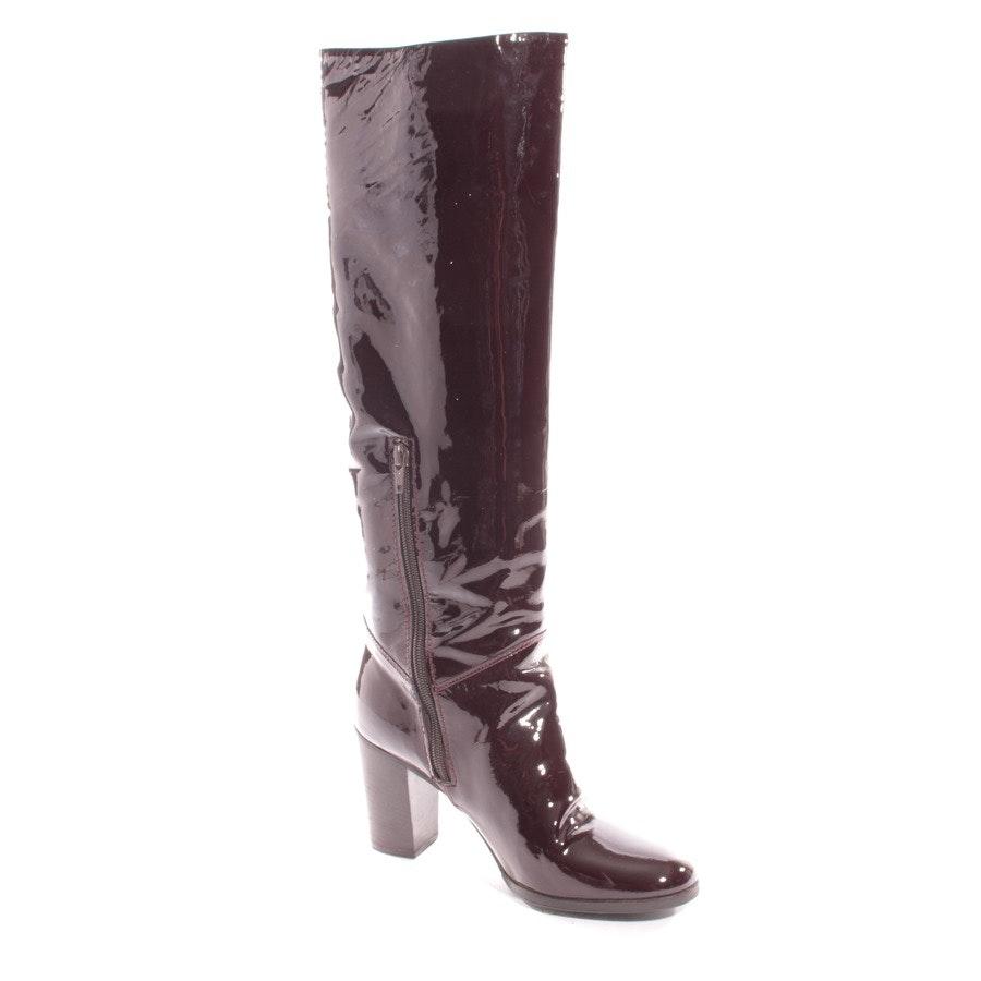 Stiefel von Chanel in Rotbraun Gr. D 37