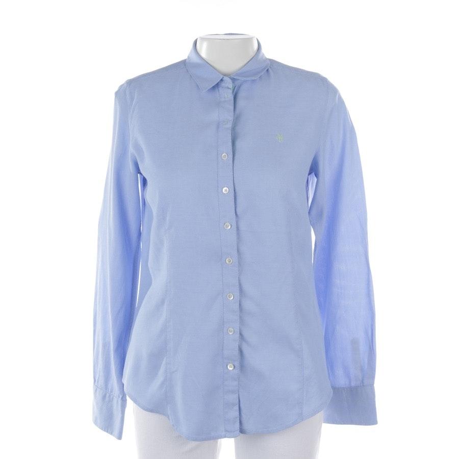 Bluse von Marc O'Polo in Hellblau und Weiß Gr. 38