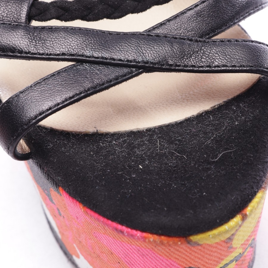 heeled sandals from Jimmy Choo in black and multicolor size D 36