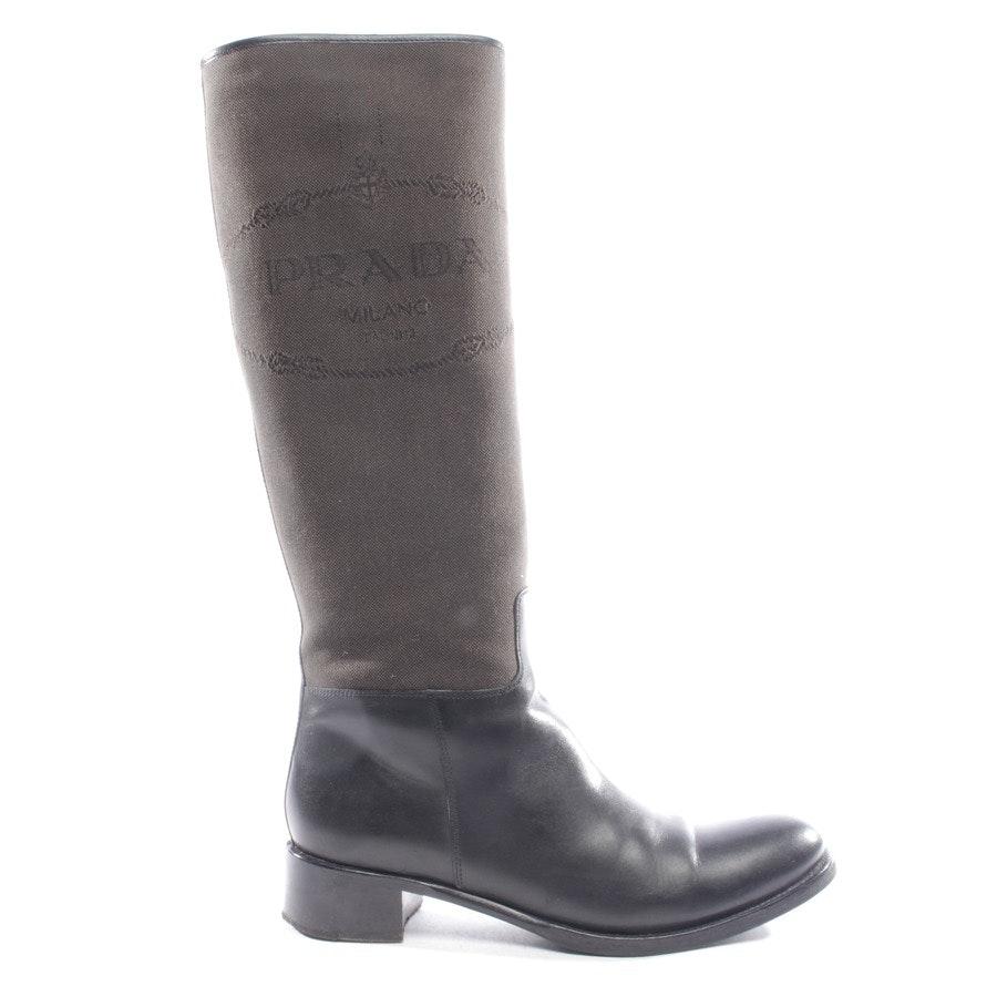 Stiefel von Prada in Schwarzbraun und Schwarz Gr. EUR 37,5