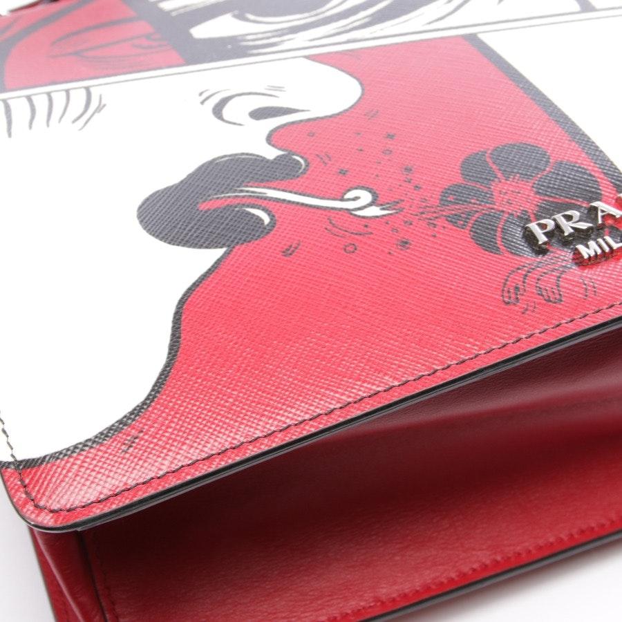 Schultertasche von Prada in Multicolor - Red Light Frame Printed