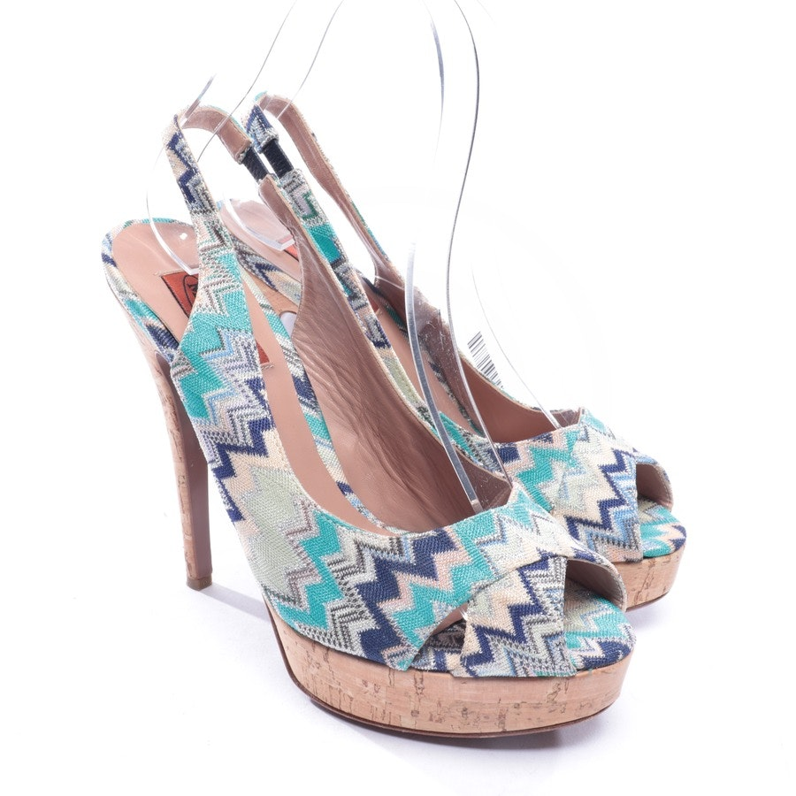 heeled sandals from Missoni in multicolor size D 37