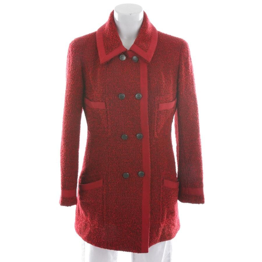 Wollkurzmantel von Chanel in Rot und Braun Gr. 36