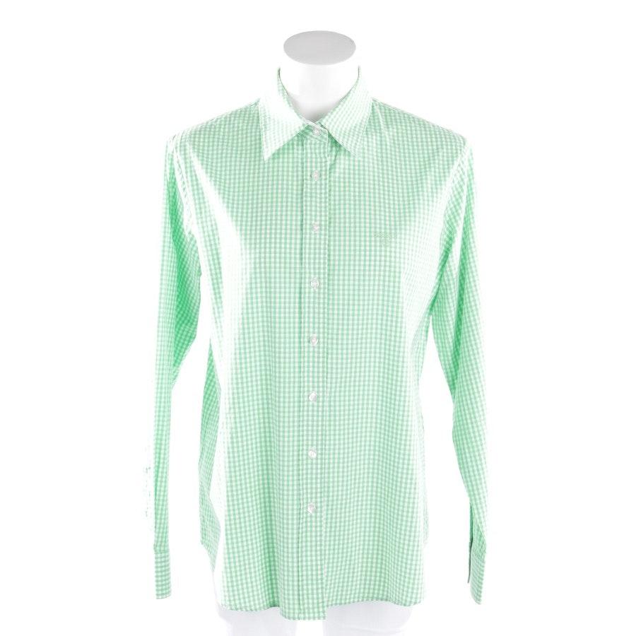 Hemdbluse von Gant in Grün und Weiß Gr. 46