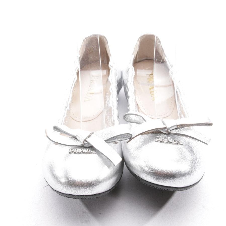 Ballerinas von Prada in Silber Gr. EUR 35,5 - Neu