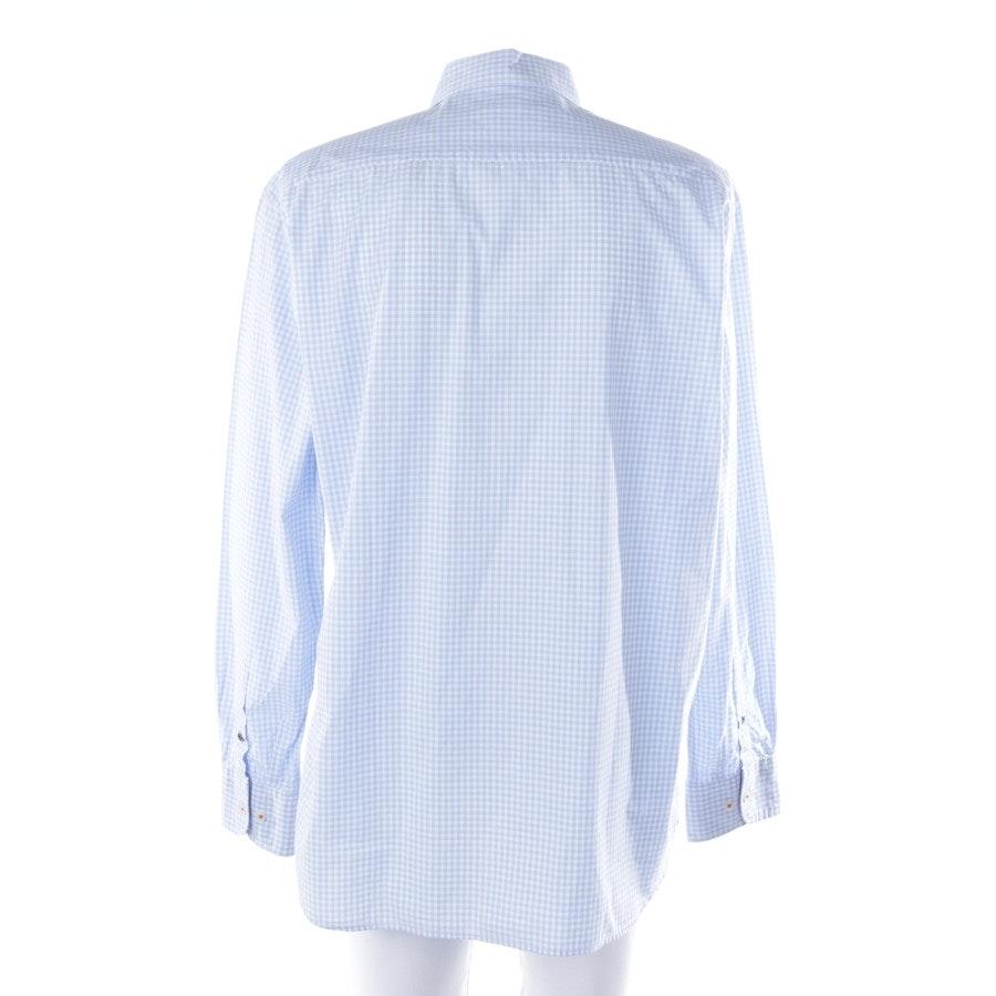 Freizeithemd von Marc O'Polo in Hellblau und Weiß Gr. 2XL
