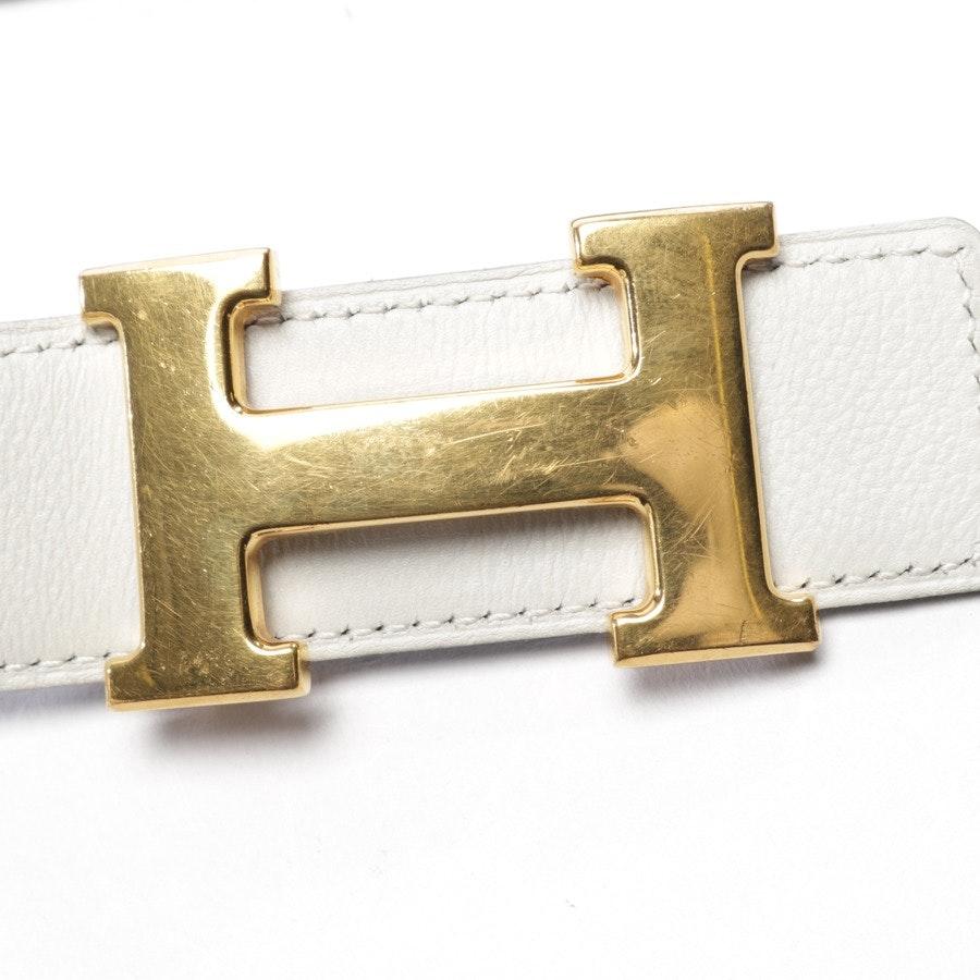 Wendegürtel von Hermès in Offwhite und Schwarz Gr. 70 cm