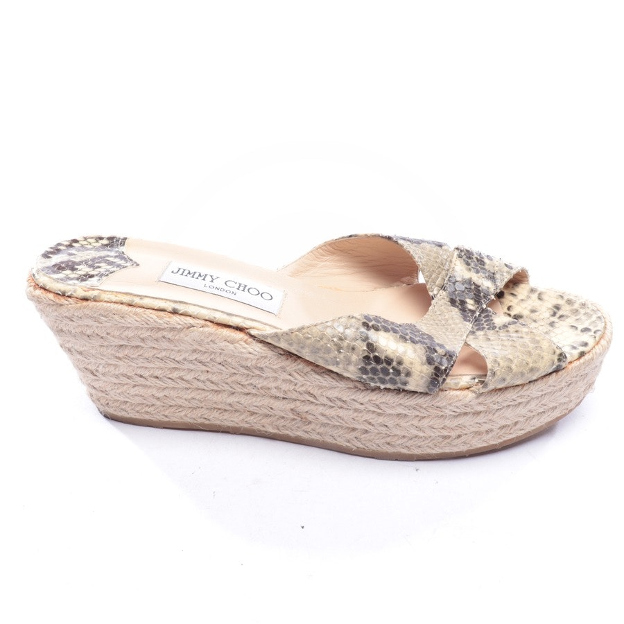 heeled sandals from Jimmy Choo in beige and brown size D 40,5