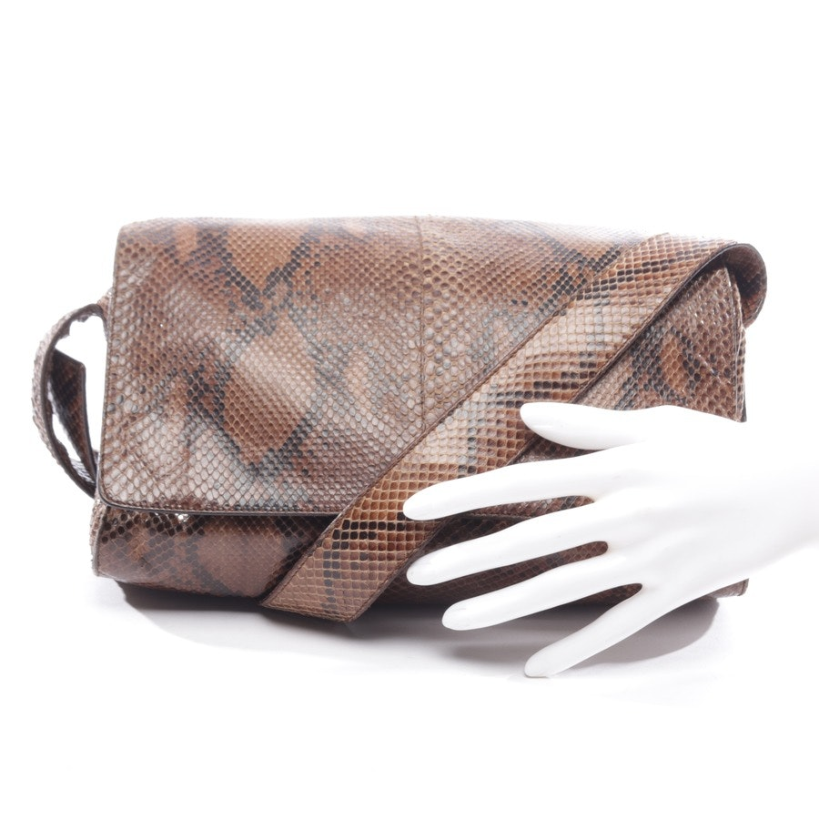 shoulder bag from Prada in brown - reptilleder