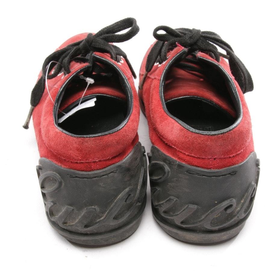 Sneaker von Gucci in Rot und Schwarz Gr. D 35