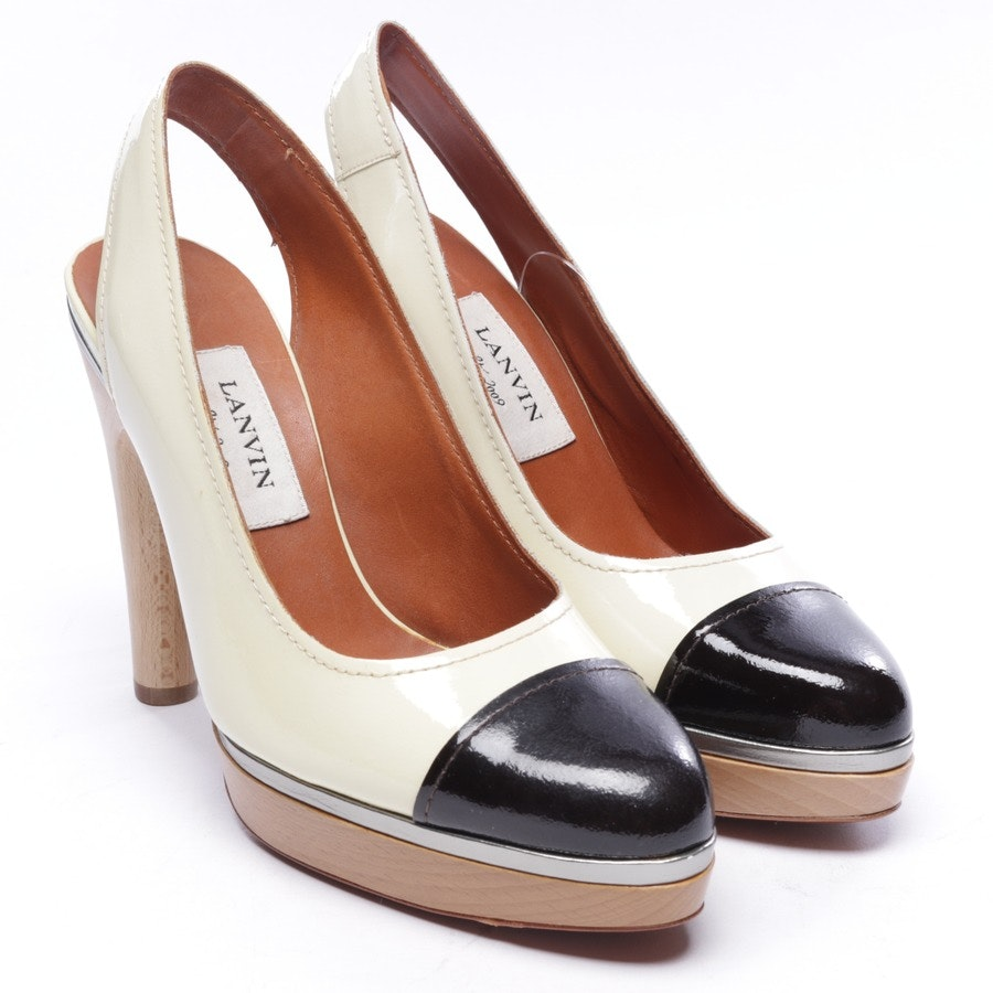 pumps from Lanvin in cream white and black size D 36