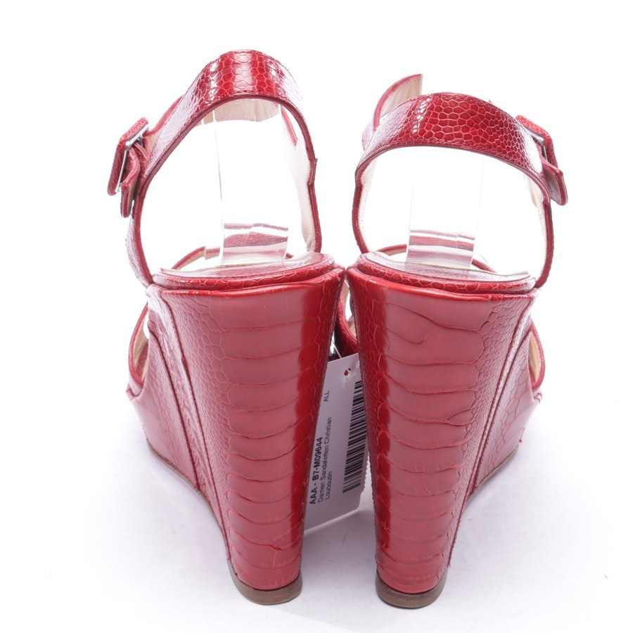 heeled sandals from Christian Louboutin in red size D 40