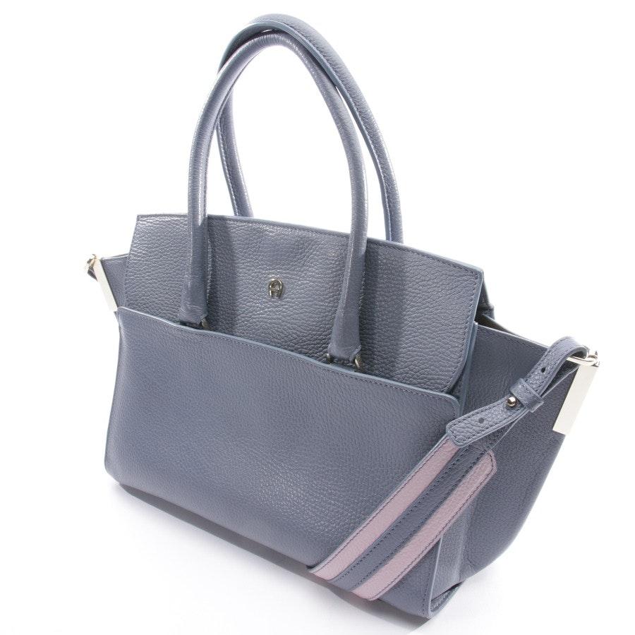 Handtasche von Aigner in Taubenblau und Rosa