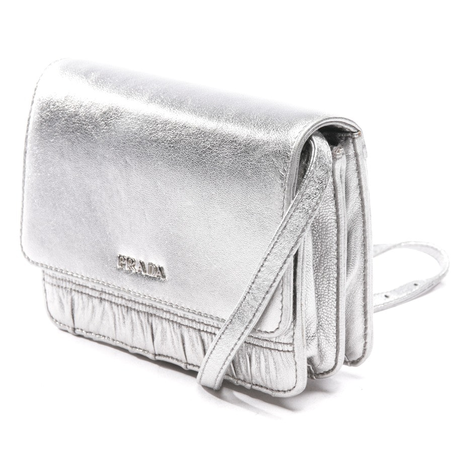 evening bags from Prada in silver