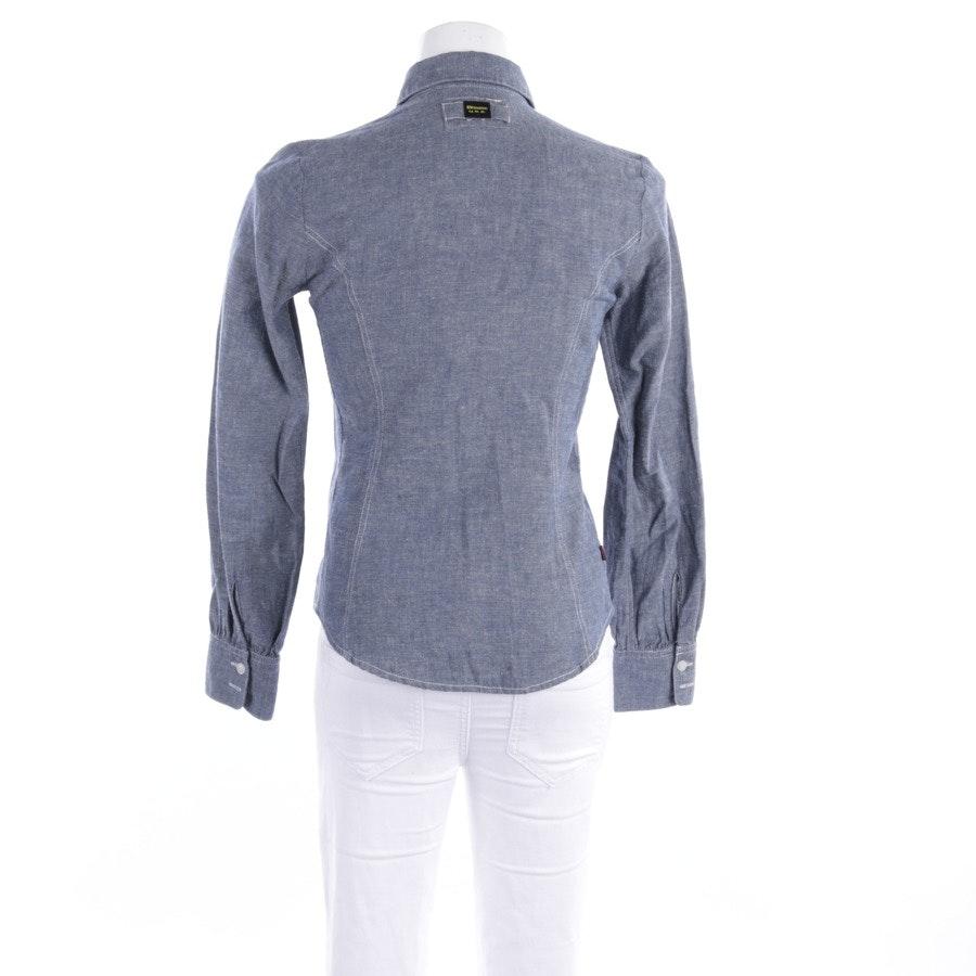 Bluse von Blauer USA in Graublau Gr. S