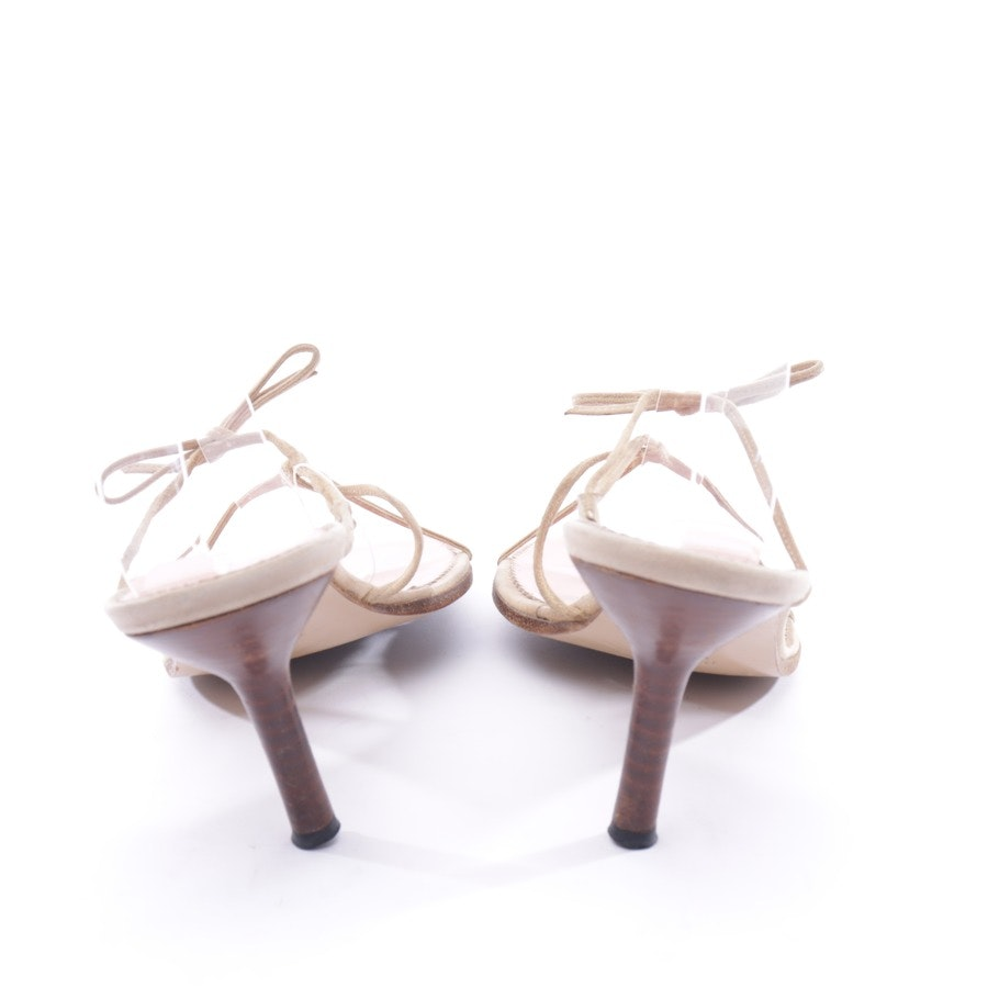 heeled sandals from Gucci in beige size D 42 UK 9