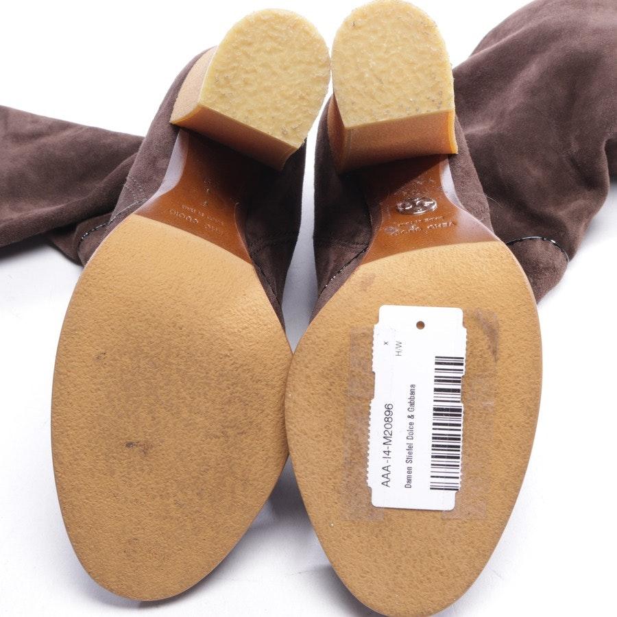 Stiefel von Dolce & Gabbana in Braun und Schwarz Gr. EUR 39