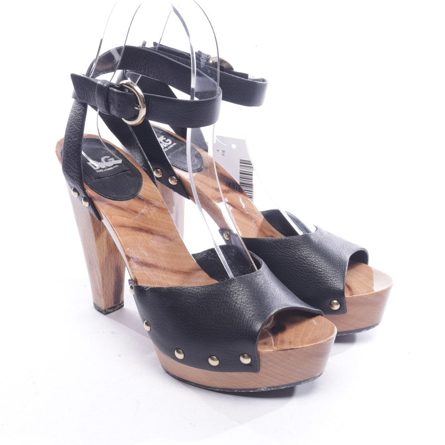 heeled sandals from D&G in black and brown size D 36