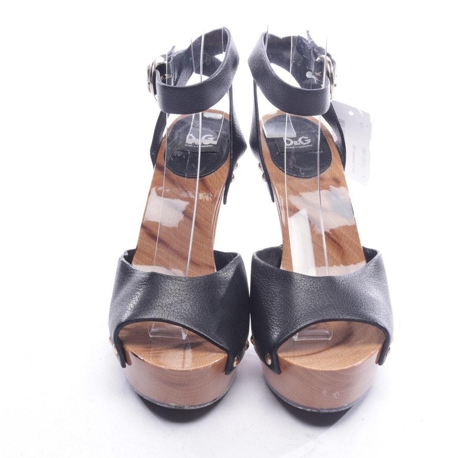 Sandaletten von D&G in Schwarz und Braun Gr. D 36
