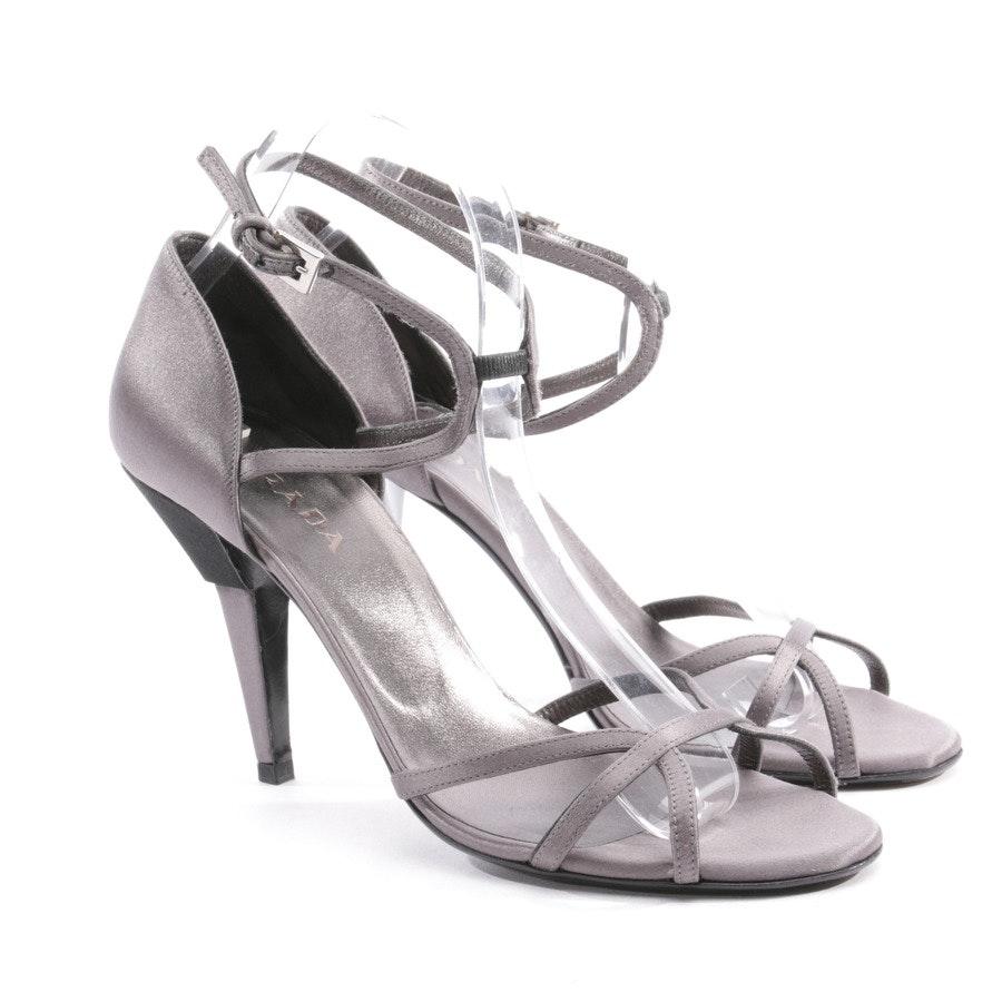 Sandaletten von Prada in Grau und Schwarz Gr. D 39,5