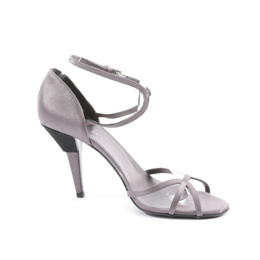 heeled sandals from Prada in grey and black size D 39,5