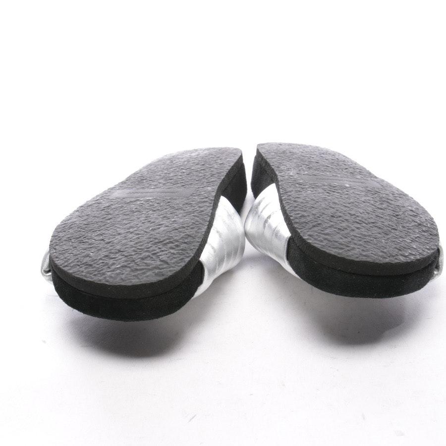 Sandalen von Isabel Marant in Silber und Schwarz Gr. D 38 - Helea