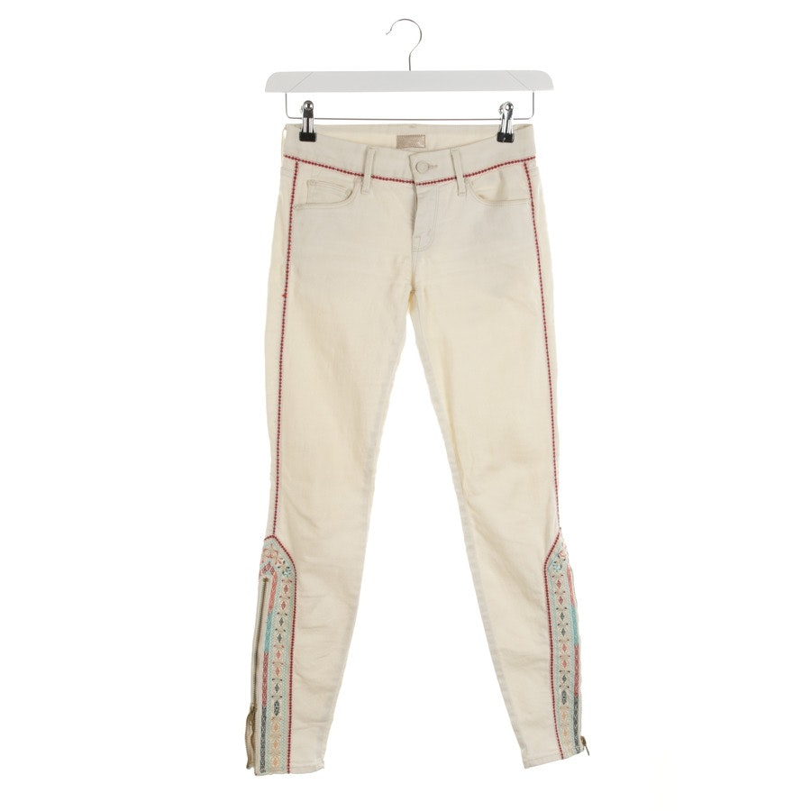 jeans from Mother in cream size W25