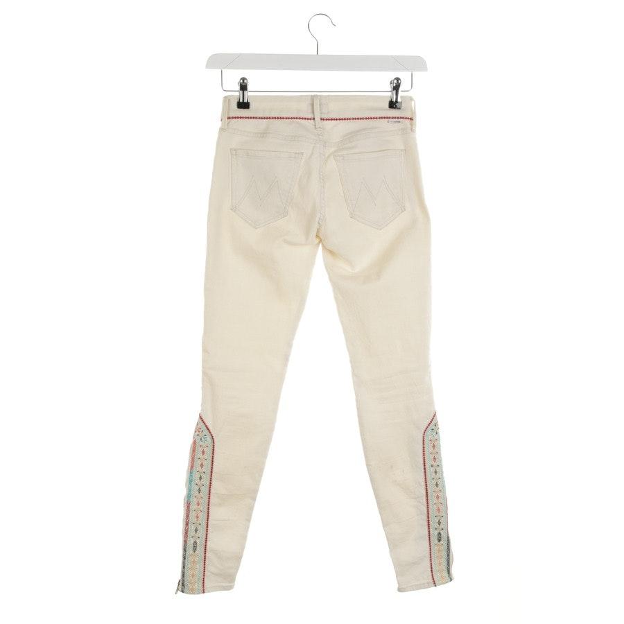 Jeans von Mother in Cremeweiß Gr. W25