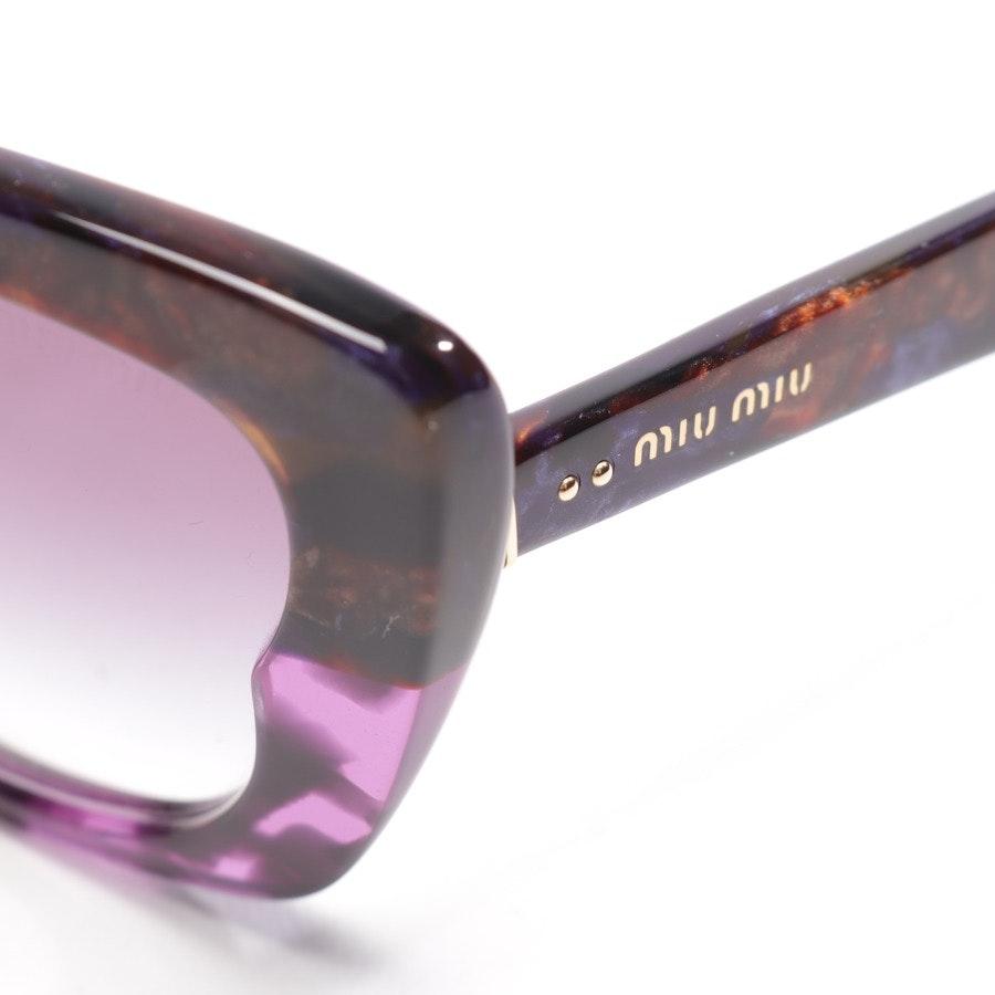 Sonnenbrille von Miu Miu in Lila und Braun - SMU03O