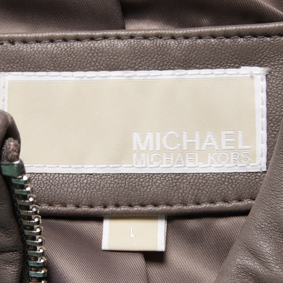 leather jacket from Michael Kors in taupe size L