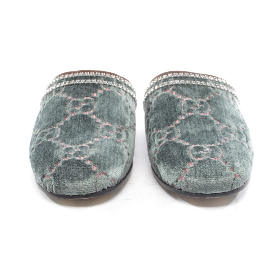 loafers from Gucci in green and pink size EUR 36 - velvet crystal queen slippers