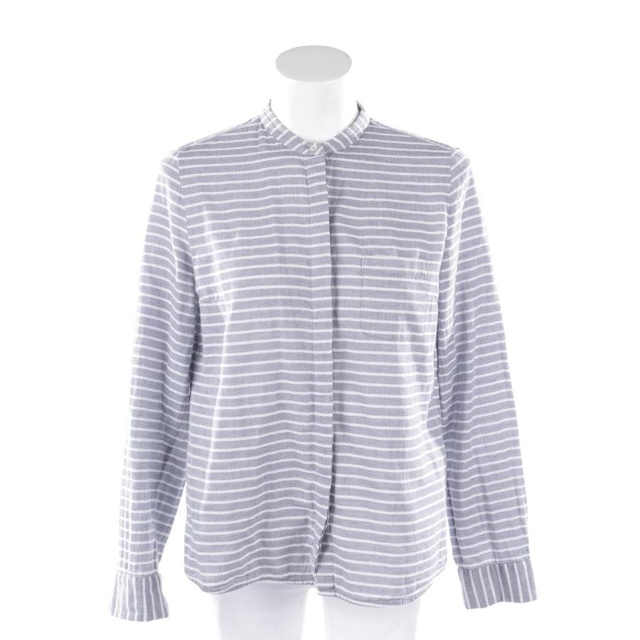 Bluse von Marc O'Polo in Grau und Weiß Gr. 36