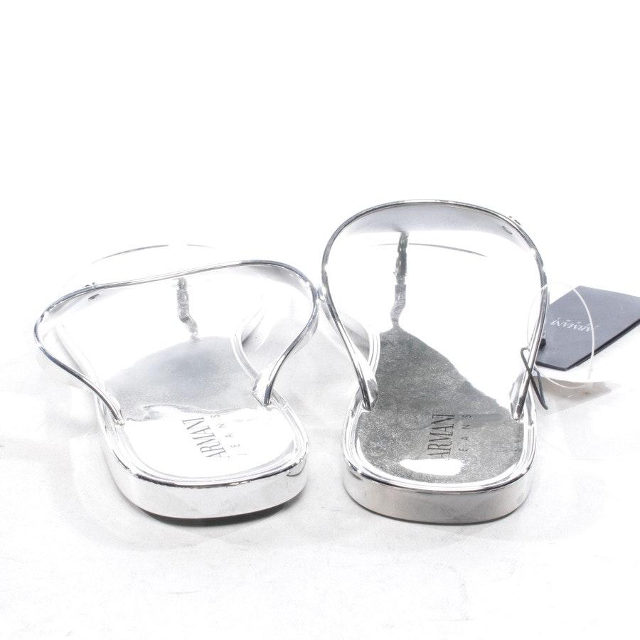 Sandalen von Armani Jeans in Silber Gr. D 41