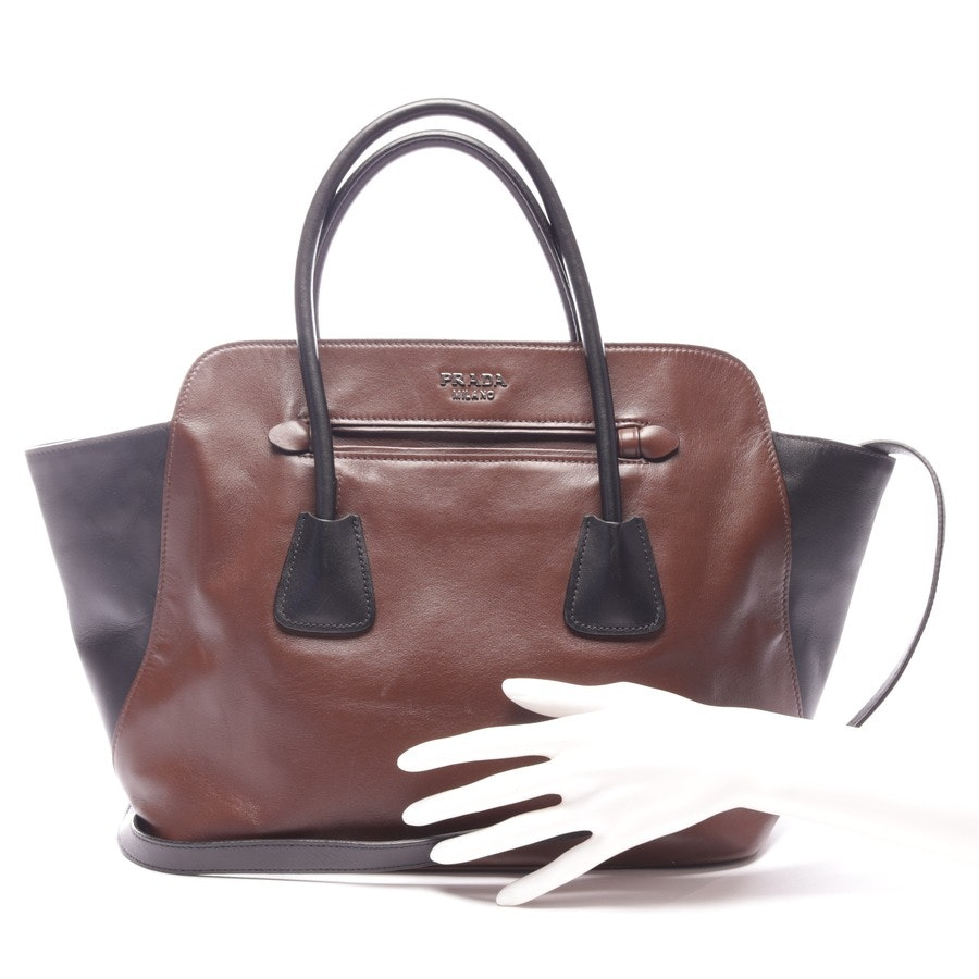 shoulder bag from Prada in dark brown and black