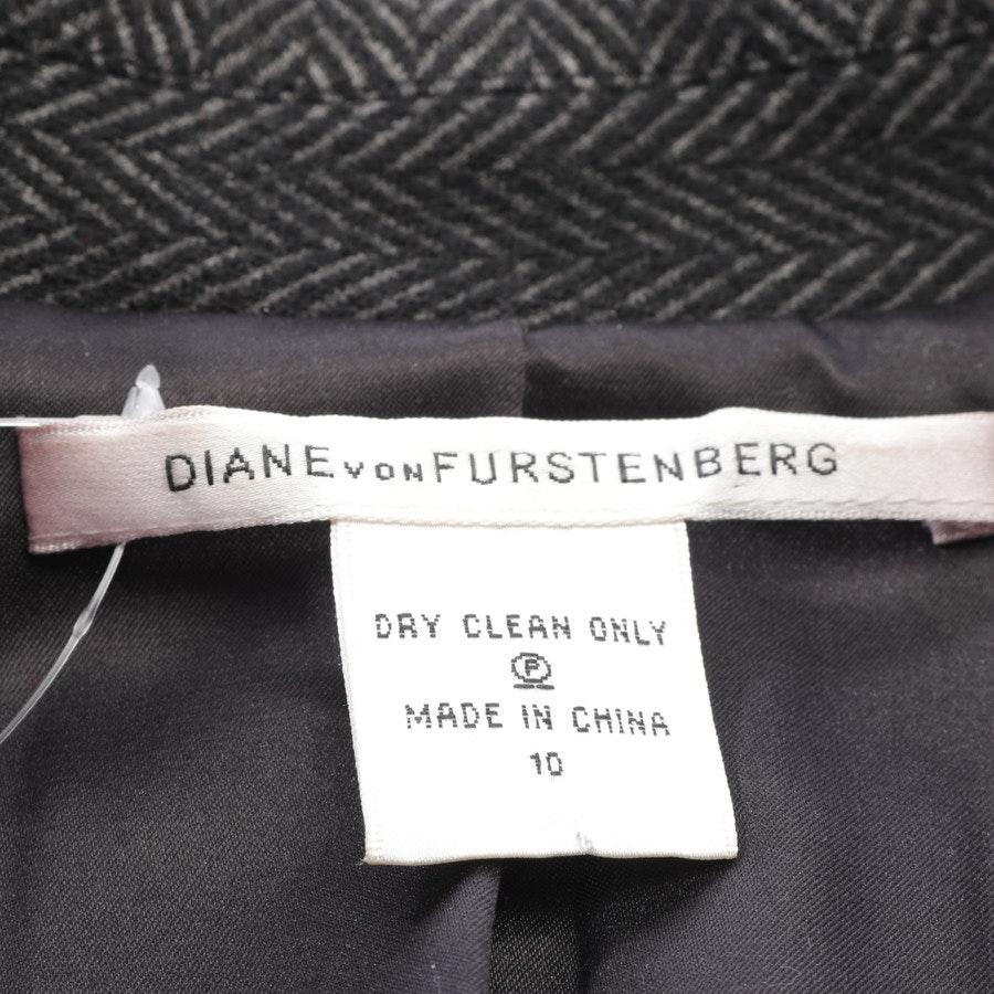 Blazer von Diane von Furstenberg in Schwarz und Grau Gr. 40 US 10 - Georgica