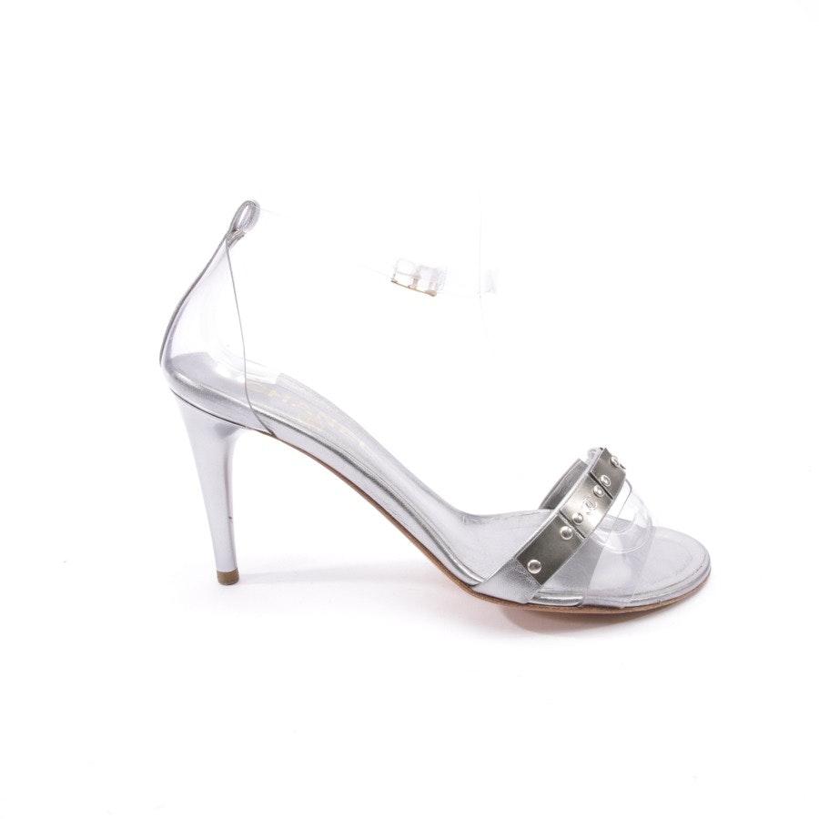 Sandaletten von Chanel in Silber Gr. D 37,5