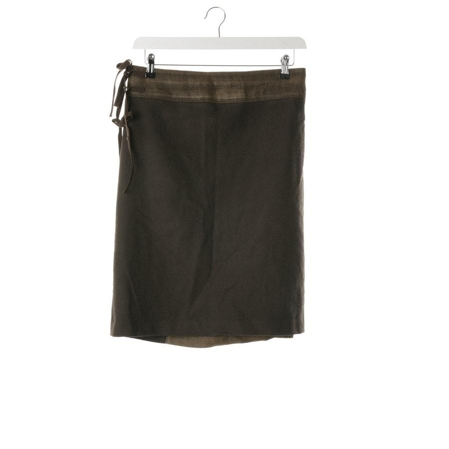 skirt from Dries van Noten in dark brown and beige size 42