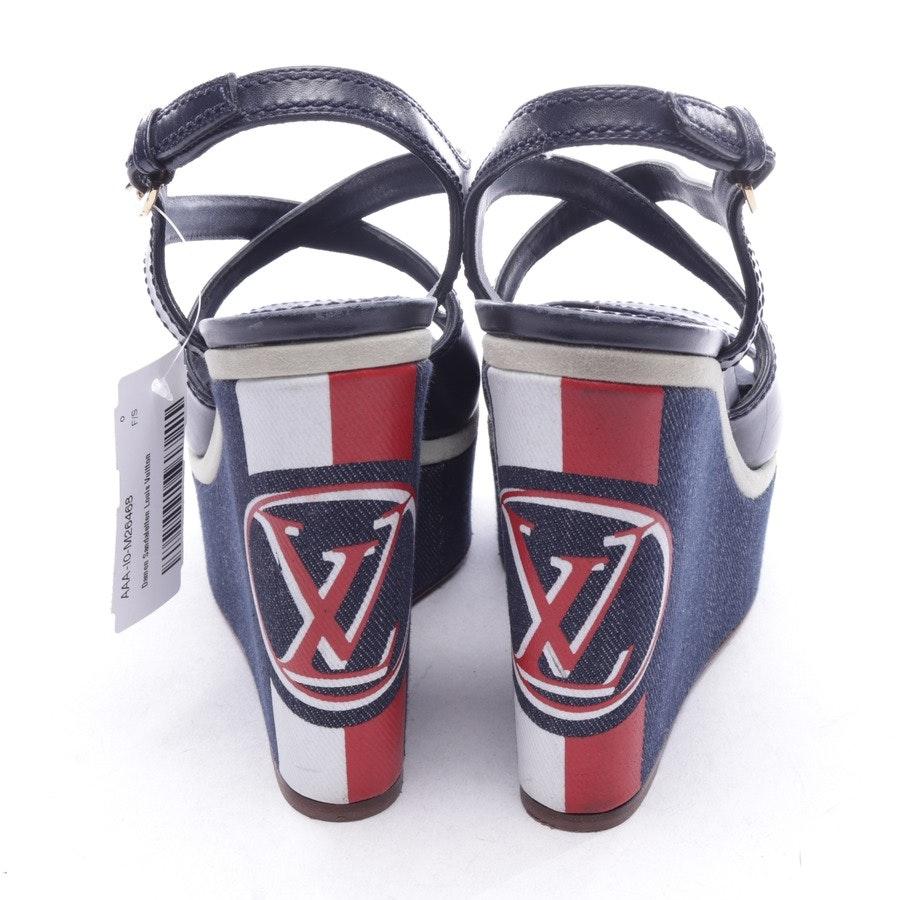 Wedges von Louis Vuitton in Blau und Rot Gr. D 37