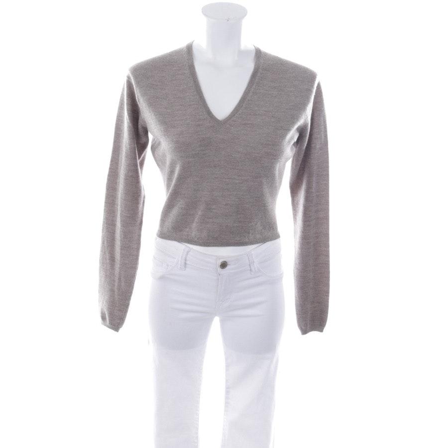 Pullover von Jil Sander in Graubraun Gr. S